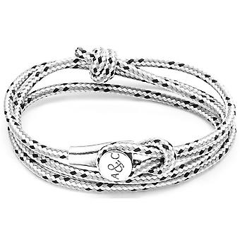 Anchor and Crew Dundee Silver and Rope Bracelet - Grey Dash
