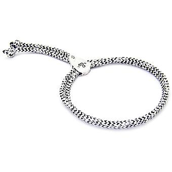 Anchor and Crew Pembroke Silver and Rope Bracelet - White Noir