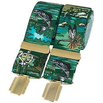 David Van Hagen pesca clássico moda Brace - verde
