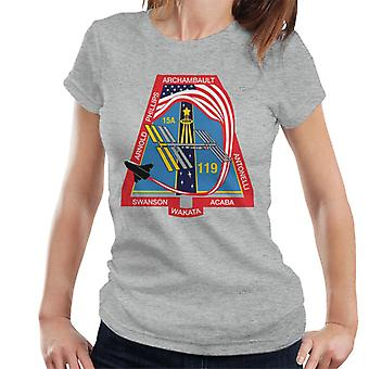 NASA STS 119 Space Shuttle Discovery Mission Patch Women's T-Shirt