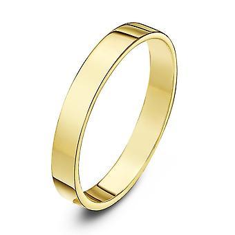Anneaux de mariage Star 9ct jaune or lourd plate forme 3mm bague de mariage