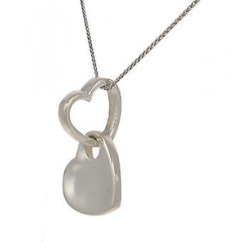 Cavendish francés coloca el colgante de corazón de plata con cadena de plata de 16-18