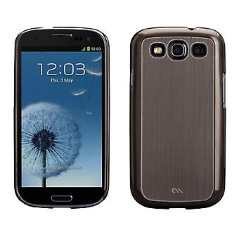 Case-Mate Barely There Case for Samsung Galaxy S3 - Brushed Aluminum Silver