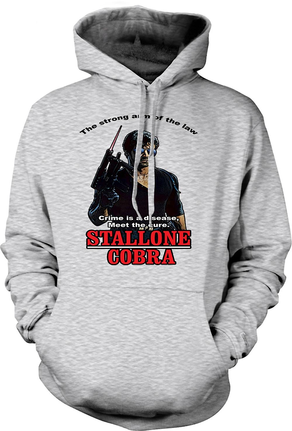 Mens Hoodie - Stallone - Cobra - Crime The Disease
