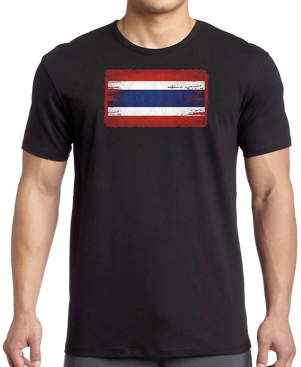 Thailand Thai Grunge Flag Kids T Shirt