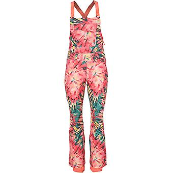 ONeill Pink Aop-Green Shred Womens Snowboarding Dungarees