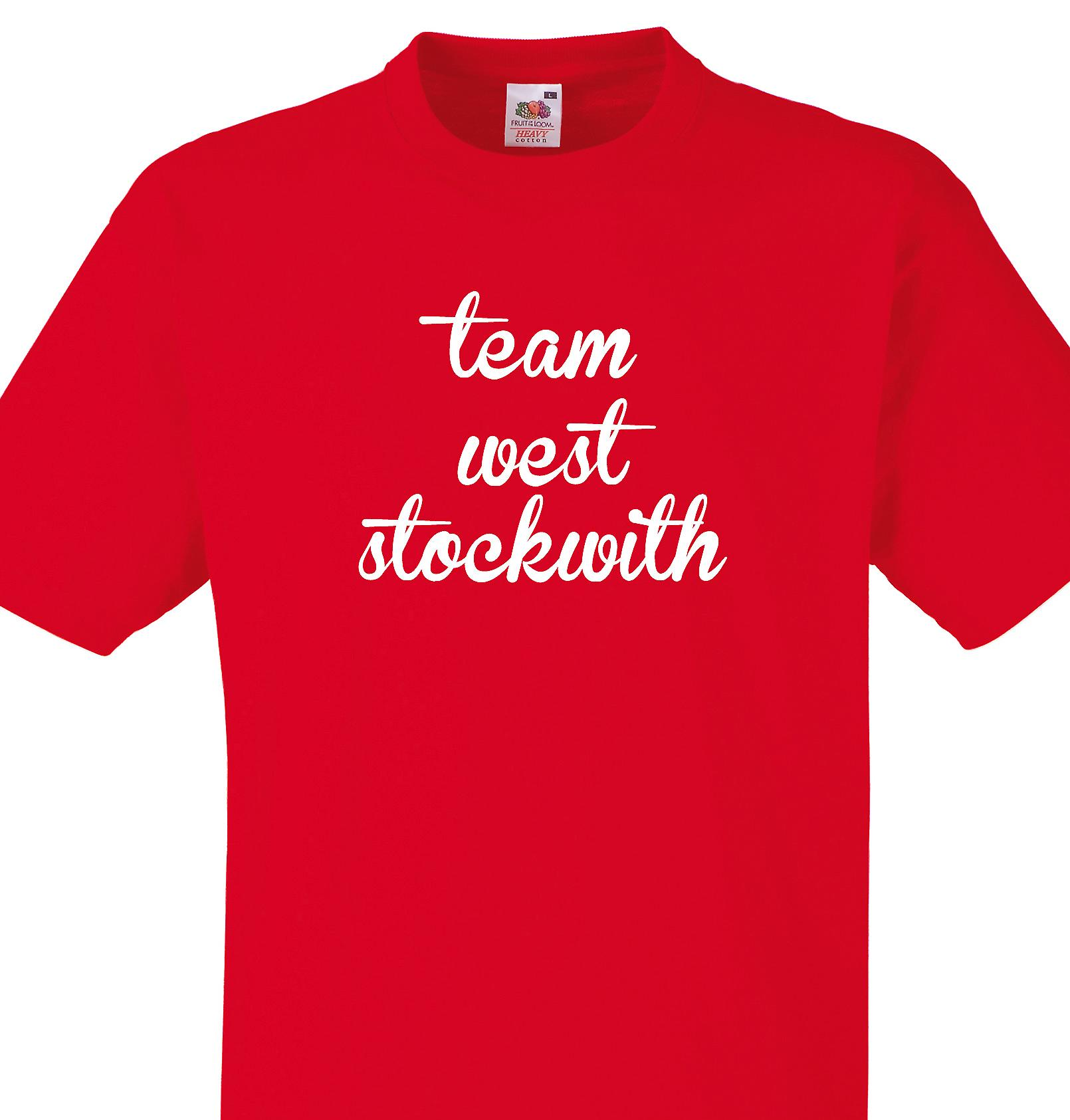Team West stockwith Red T shirt