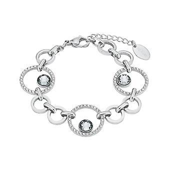 s.Oliver juvel damer armbånd rustfrit stål krystaller 2024268