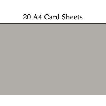 20 Grey A4 Card Sheets for Crafts | Coloured Card for Crafts