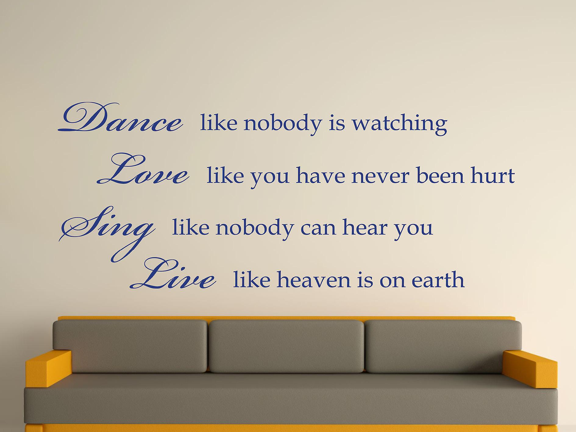 Dance Like Nobody Is Watching Wall Art Sticker - Azure