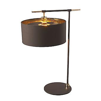 Elstead-1 lampe de table lumineuse-marron et laiton poli-BALANCE/TL BRPB