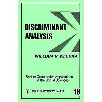 Diskriminantanalys av Klecka & William R.