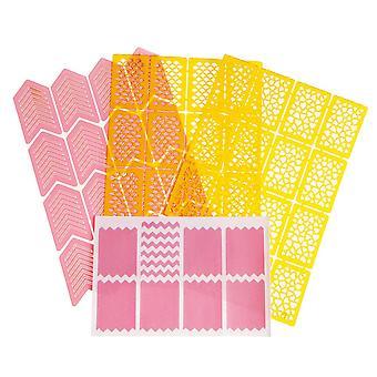 4pcs sheet-Nagelmallar-Vinylstickers-various designs