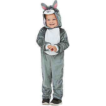 Toddlers Cute Grey Bunny Rabbit Fancy Dress Costume