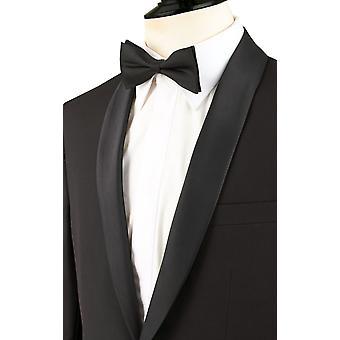 Doball Mens Black 2 stuk Tuxedo Fit Regular omslagdoek revers