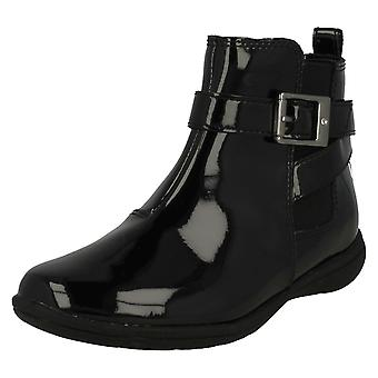 Girls Clarks Buckle Detailed Ankle Boots Venture Move