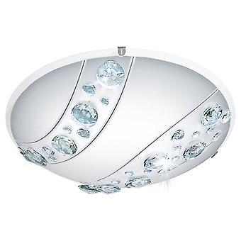 EGLO - Nerini LED Satin glas & Crystal tak ljus EG95576