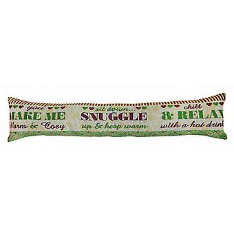 Contemporary Tapestry Draught Excluder: Snuggle Relax
