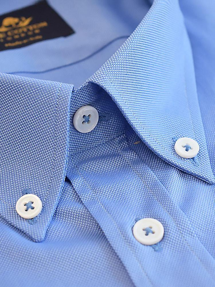Thomas mason royal oxford mid blue shirt