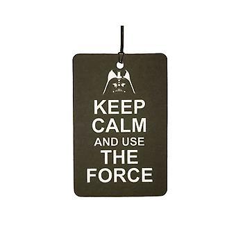 Bewahren Sie Ruhe und verwenden Sie die Force-Auto-Lufterfrischer