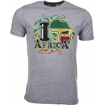 T-Shirt I Love Africa-Grey