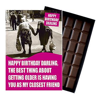 Funny Birthday Gift For Older Women Pensioner boxed Chocolate Greeting Card Present CDL148