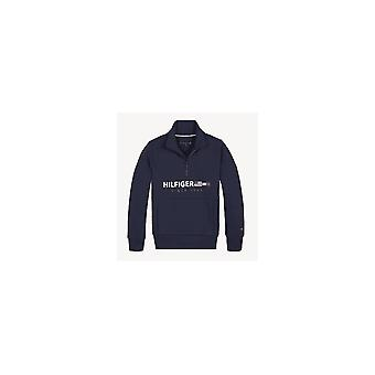 Tommy Hilfiger Boys Navy Flag Logo Mezza tuta