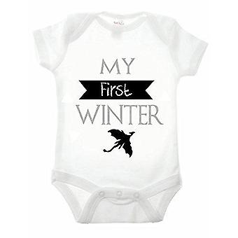First winter short sleeve babygrow