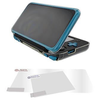 Protective case & screen protector set for 2ds xl (new nintendo) flexi gel cover & clear