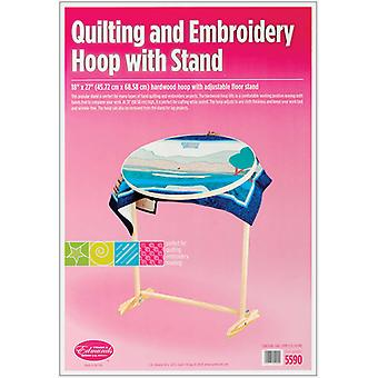 Wood Hoop & Floor Stand 16