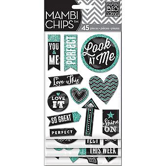 Chipboard Value Pack Chalk  Look At Me Cbvx25