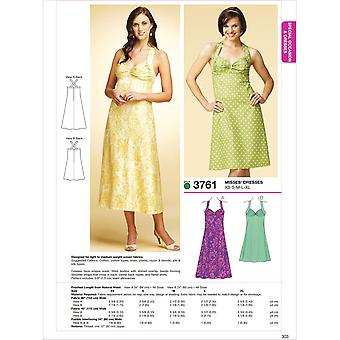 Dresses  Xs  S  M  L  Xl Pattern K3761