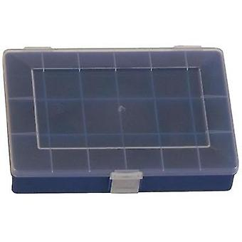 Assortment box (L x W x H) 250 x 180 x 45 mm Alutec No. of compartments: 18 fixed compartments