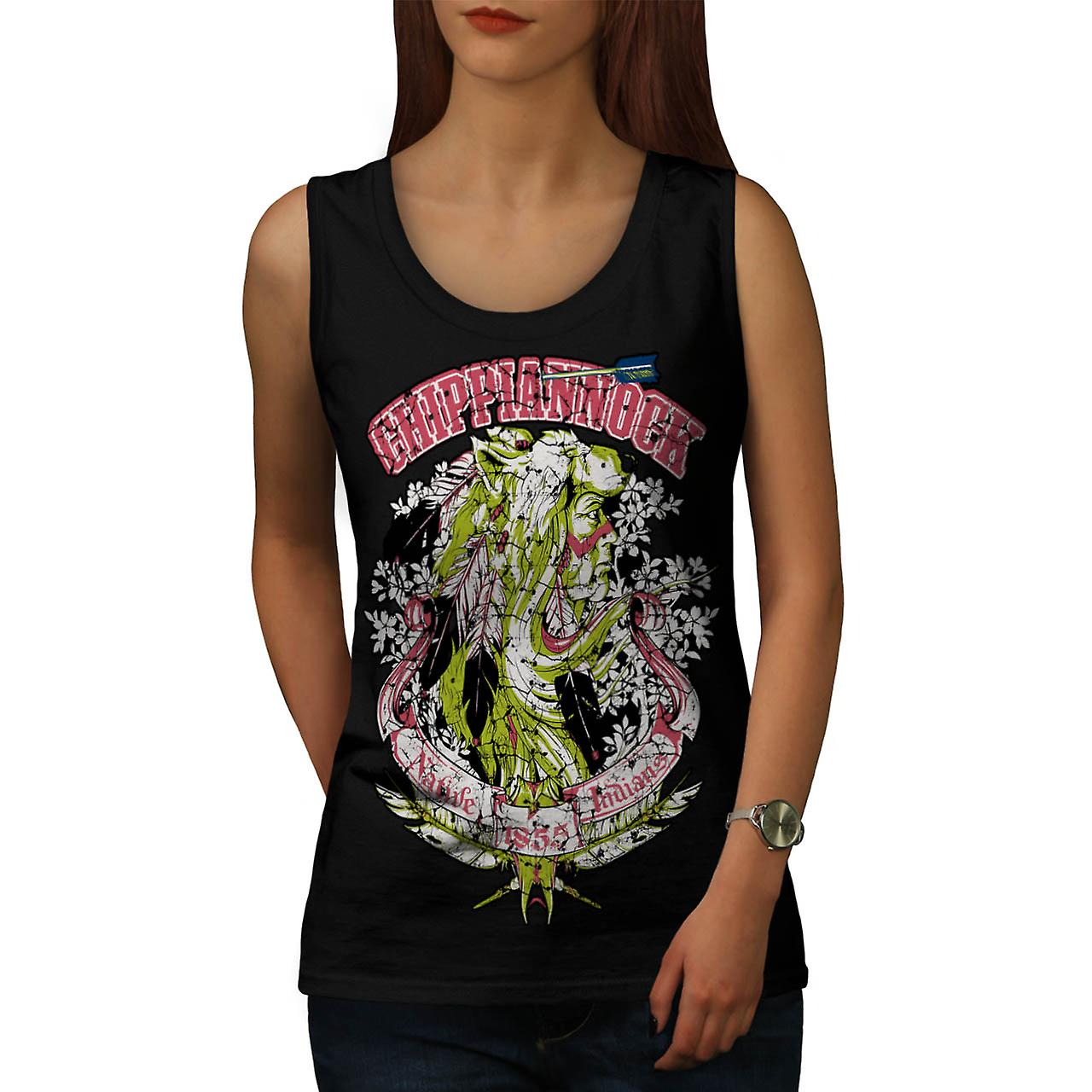 Chippianock Cemetery Burial Land Women Black Tank Top | Wellcoda