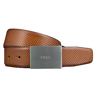 GOLF belts belts men's belts leather belt Cognac 3473