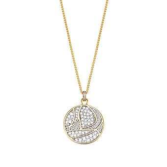 ESPRIT collection ladies chain necklace Silver Gold adelphia ELNL93162A420