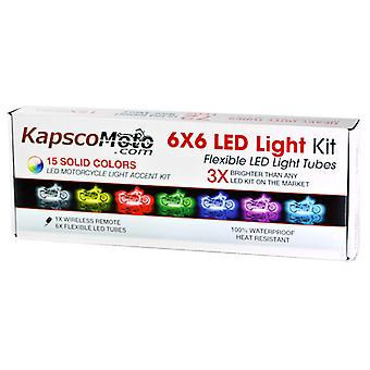 KapscoMoto® Motorcycle 7 Color LED Accent Light Kit Remote For Yamaha YZF 750 1000 YZF750 YZF1000