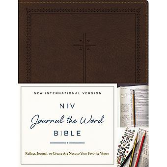 NIV Journal The Word Bible-Brown JB5555
