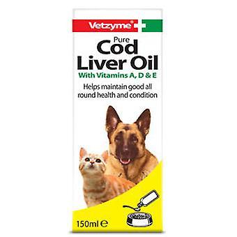 Vetzyme hund ren torsk lever olie Supplement 150ml