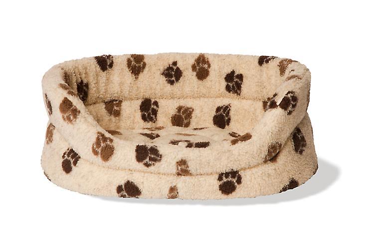 Fleece Paw Beige/brown Slumber Bed 45cm (18