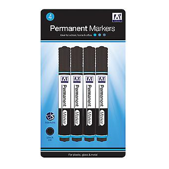 Anker Black Permanent Marker Pen Set 4-Pack