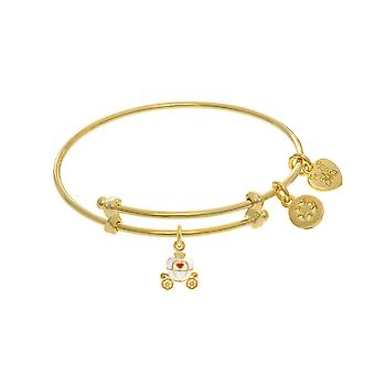 Princess Carriage Charm Adjustable Bangle Girls Bracelet