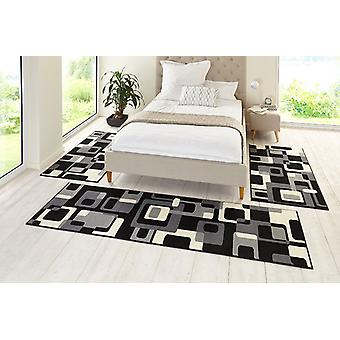 Design bed set retro black / creme 3teilig