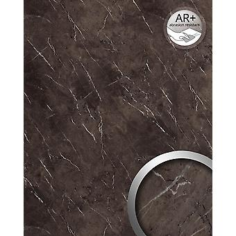 Wall Panel marble optics WallFace 19342 MARBLE BROWN wall covering in natural stone look shiny smooth adhesive abrasion resistant Brown grey 2.6 m2