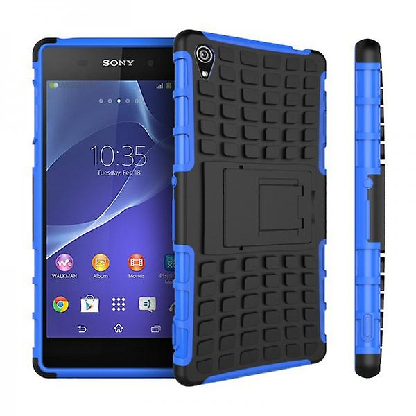 Hybrid case 2 piece SWL robot blue for Sony Xperia Z3 D6653 L55T