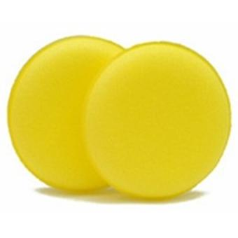 Car Detailing Microfibre Pads for Polishing Applicator with 12 cm Diameter in Pack of 2 Yellow
