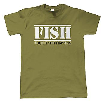 Vectorbomb, FISH, Mens Funny Fishing T Shirt (S to 5XL)