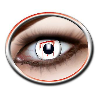 Contact lenses white slash 1 pair Carnival Halloween