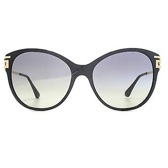 Versace Greca Strass Cateye Sunglasses In Black