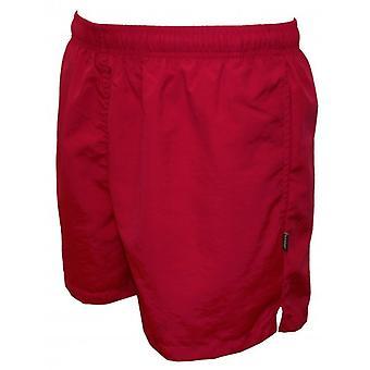 Pantaloncini da bagno base, rosso della puleggia tenditrice